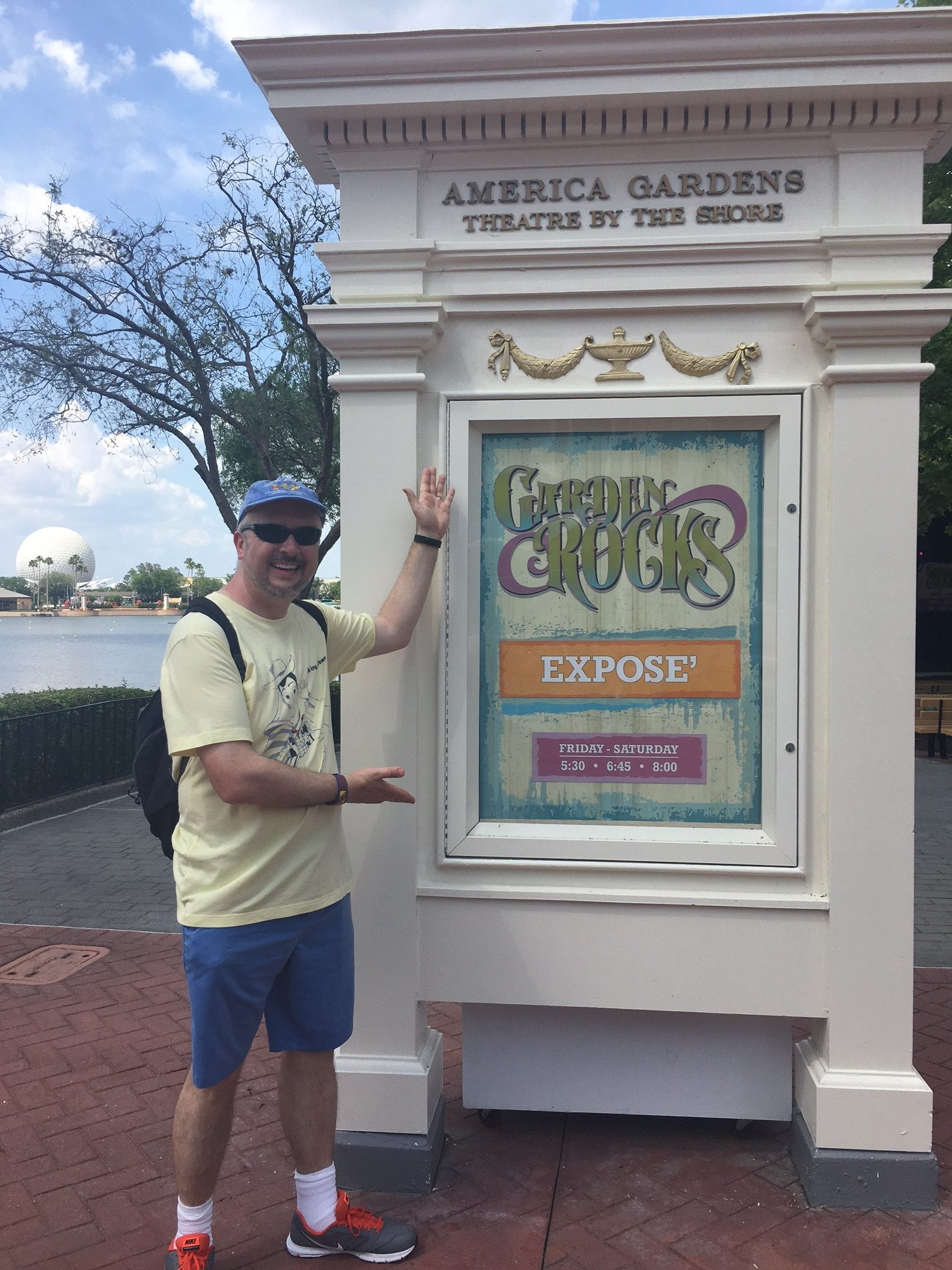 Gary Exposé sign at Epcot