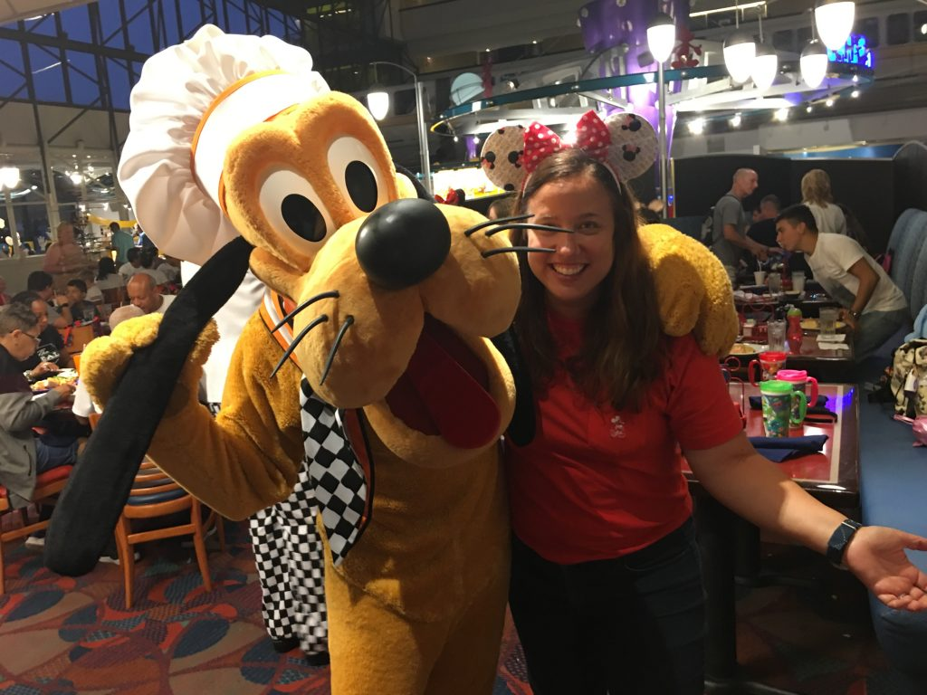 Chef Mickey's Jaime with Pluto