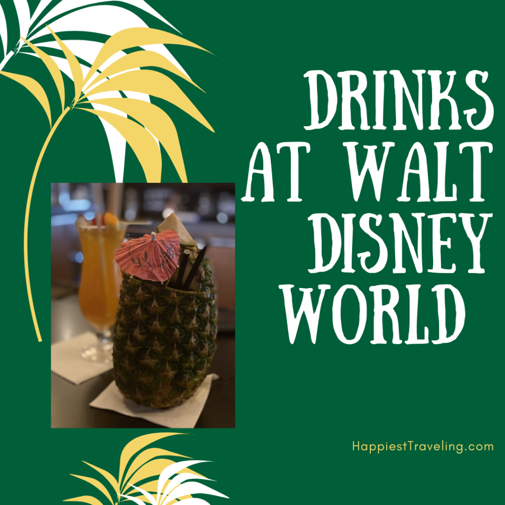 Drinks from our recent WDW trip