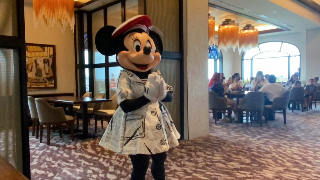 Minnie Mouse at Topolino's Terrace