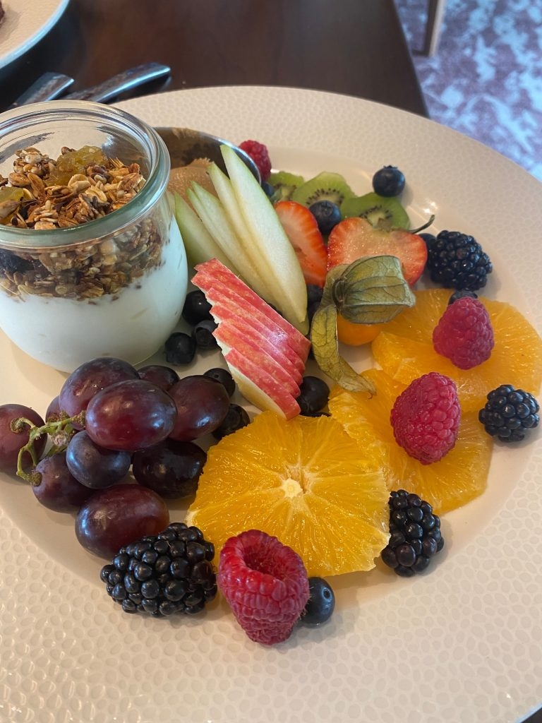 Fruit plate at Topolino's Terrace