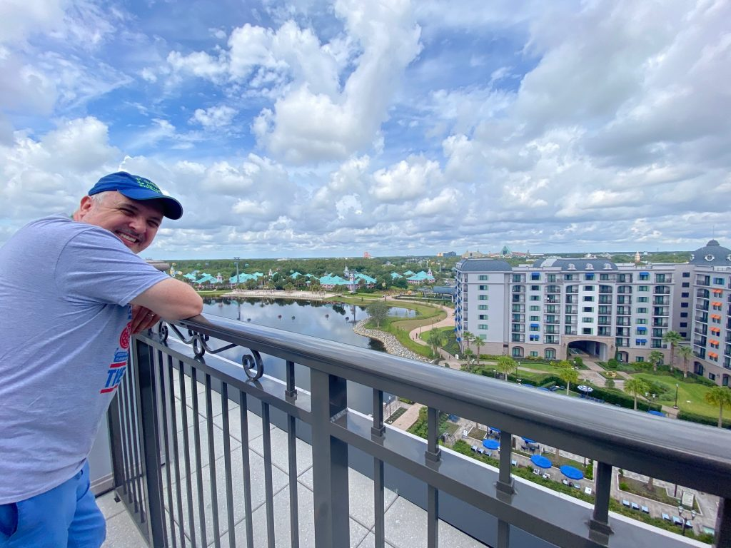 Gary with the view from Disney's Riviera Resort