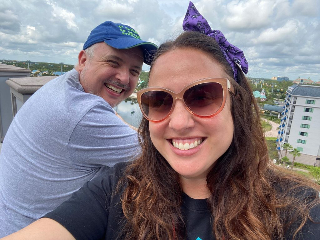 Jaime and Gary selfie from Topolino's Terrace observation deck
